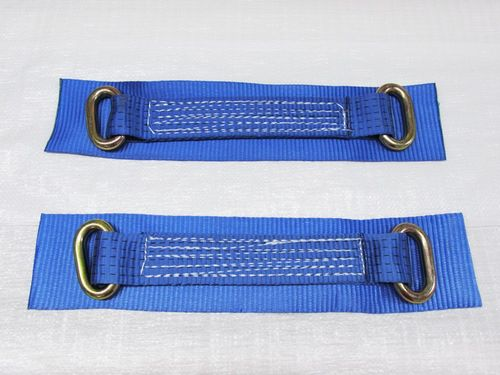 "x2 12"" Oval Link Wheel Straps - Recovery Bridging Trailer Car Vehicle Web Alloy"
